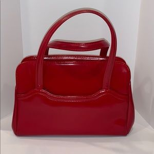 80's Red footed purse